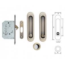 SIBA Замок для розсувних дверей WC ручки S-223 AB бронза