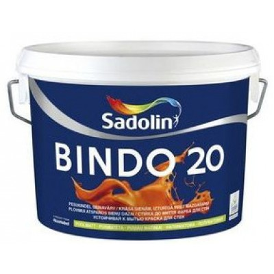 Краска Sadolin BINDO 20 ВМ (W2) 2,5л