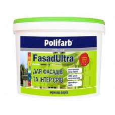 Краска Polifarb Фасад Ультра белая 20 кг