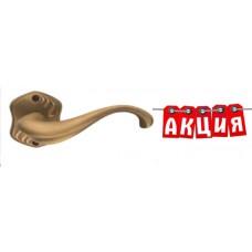 Ручка LATINA на фигурной розетке R МАТОВАЯ БРОНЗА